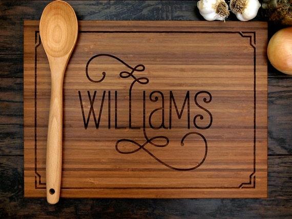 personalized wedding gift custom engraved wood cutting board etsy