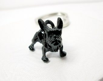 French bulldog Key ring, bulldog key chain, gift for bulldog dad or bulldog mom, always by your side bulldog gift, memorial sentimental gift