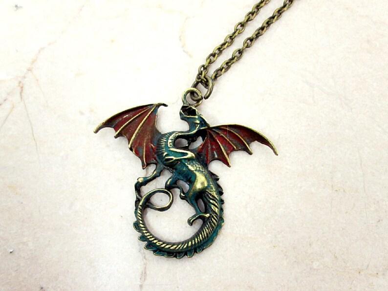Miroir mural 2 dragon avec couronne déco Dragon Cadeau Dragon Mythique