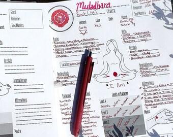 Printable Chakra Template | Chakra Balancing | Chakra PDF | Blank Grimoire Pages Printable | Basic Chakra Worksheet | DIY Book of Shadows