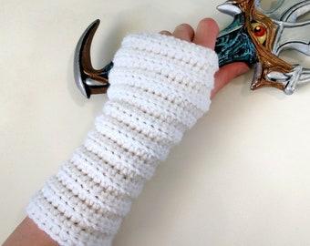 Fantasy Armor Costume | Girl Costumes Halloween | Crochet Fingerless Gloves | Chain Mail Armor | Wrist Guard | Medieval Gloves | Wrist Cuff