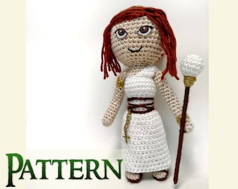 Doll Crochet Pattern | Medieval Doll | Crochet Priestess | Gifts Under 10 | Crochet Amigurumi Pattern | High Priestess | Greek Mythology