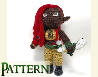 Shaman Amigurumi Pattern | Mythical Creature | Gifts for Crocheters | Fantasy Creature Art | Crochet Amigurumi | Soft Toy PDF |Mythical Doll