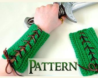 Easy Crochet Pattern| Archery Bracer| Halloween Pattern| Arm Guard| Woodland Elf| Forest Elf| LARP Costume| Cosplay Gloves| Wrist Guard