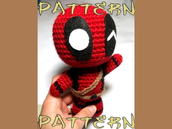 Deadpool Crochet Pattern Chibi Deadpool Intermediate by CroChels ... | 428x570