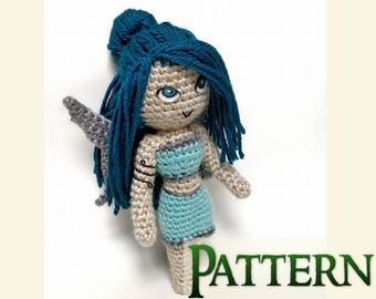 Blue Fairy Crochet Pattern Doll | Fantasy Doll | Softie Pattern | Plushie Pattern | Fairy Decorations | Crochet Toys | Mythical Creatures
