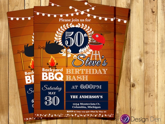 bbq birthday invitation bbq party invitation pig roast etsy