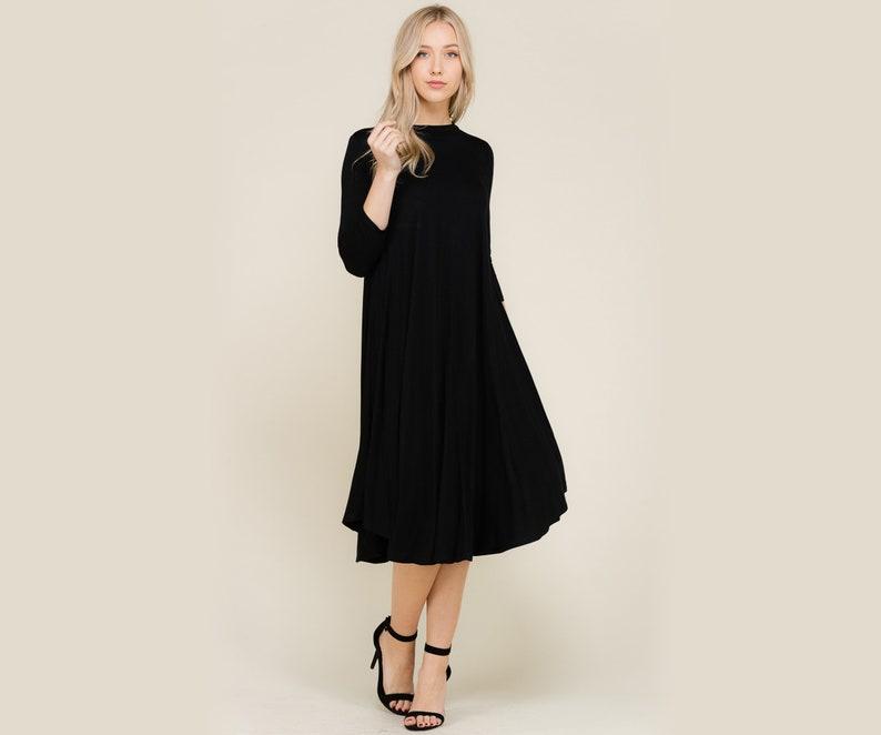 b51c7aa8964 Black Knit Dress Black Dress   Olive Dress   Modest Dress