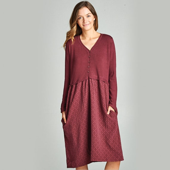 c62c22b1373c Midi Dress with Pockets Sweater Dress Easter Dresses for