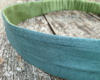 Jade Green Silk Headband