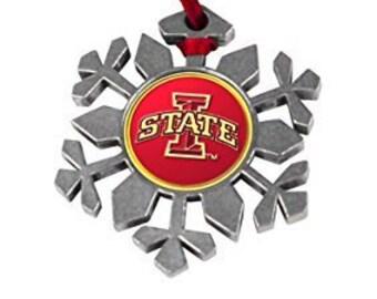 Iowa State Cyclones Snowflake Ornament