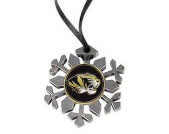 Missouri Tigers Snowflake Ornament