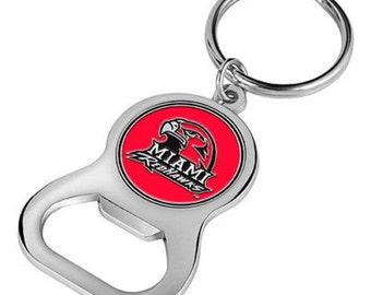 Miami Redhawks Keychain Bottle Opener