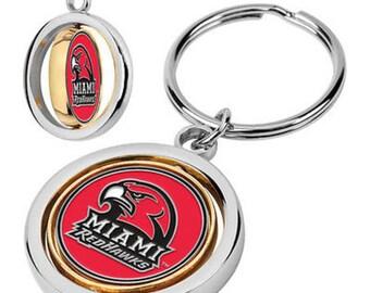 Miami Redhawks Spinner Keychain
