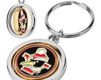 Youngstown State Penguins Spinner Keychain