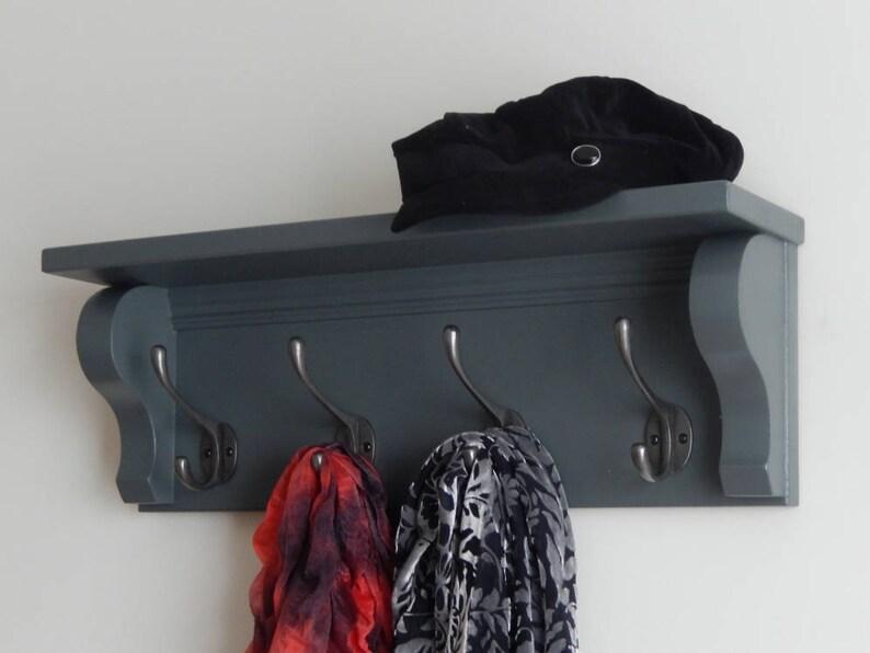Porte Manteau Avec étagère étagère Murale Avec Crochets Etsy