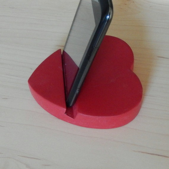 Red, Smart Phone Stand, Tablet Stand, Valentine Gift, Handmade, Tech Gift, Mobile Accessory, Gift for Him, Gift for Her, Gift, Desk Tidy,