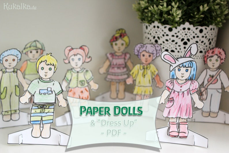 Paper Dolls  Dress me up Dolls  DIY Cutout by image 0