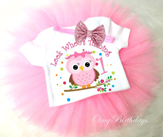 Amazing Owl Look Whos 1St First Birthday Shirt Tutu Light Pink Sequins Etsy Funny Birthday Cards Online Fluifree Goldxyz