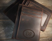 RFID protected, Cowhide leather money clip, personalized leather money clip, personalized cowhide leather money clip, credit card wallet