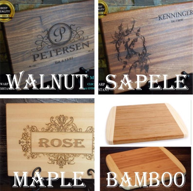 Anniversary Custom Board Wedding Gift Christmas Personalized Cutting Board Chopping Block Bridal Gift Engraved Wood