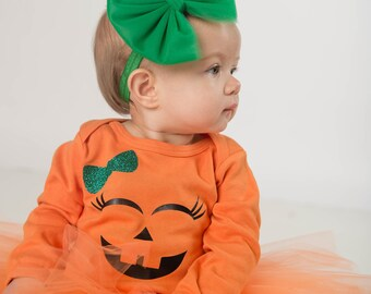 baby girl pumpkin bodysuit newborn halloween outfit pumpkin baby shirt jack o lantern baby cute baby halloween costume sc 1 st etsy