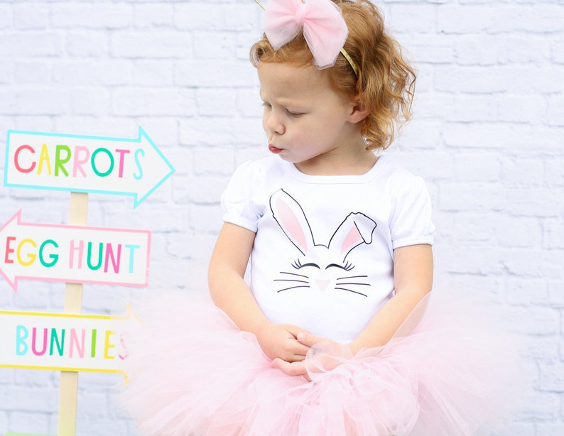 95e18a252 Bunny Tutu Outfit Baby Bunny Outfit Baby Bunny Tutu Baby | Etsy