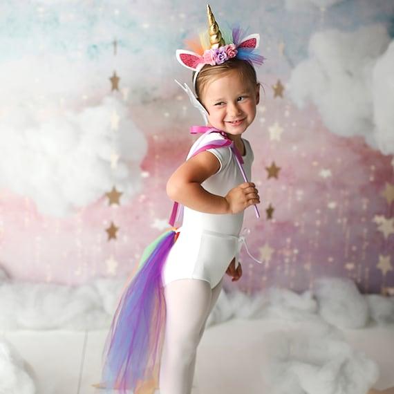 Rainbow Unicorn Costume Girls Unicorn Costume Rainbow Etsy