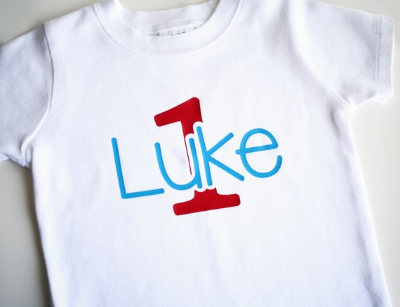 Boys First Birthday Shirt Personalized 1st