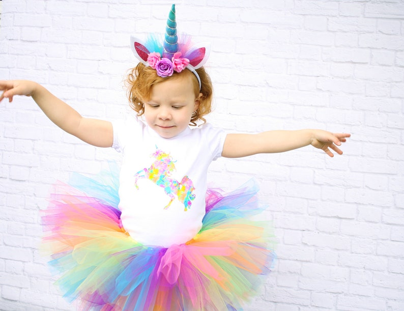 ea5b069477ec PREMIUM Unicorn Birthday Outfit Unicorn 1st Birthday Outfit   Etsy