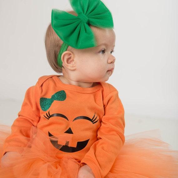 Jack O Lantern  Pumpkin //Fall//Halloween Baby//Toddler //Girl Headband