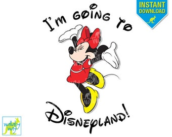 photograph regarding You're Going to Disneyland Printable referred to as Im Moving towards Disneyland Printable Iron Upon Go with Etsy