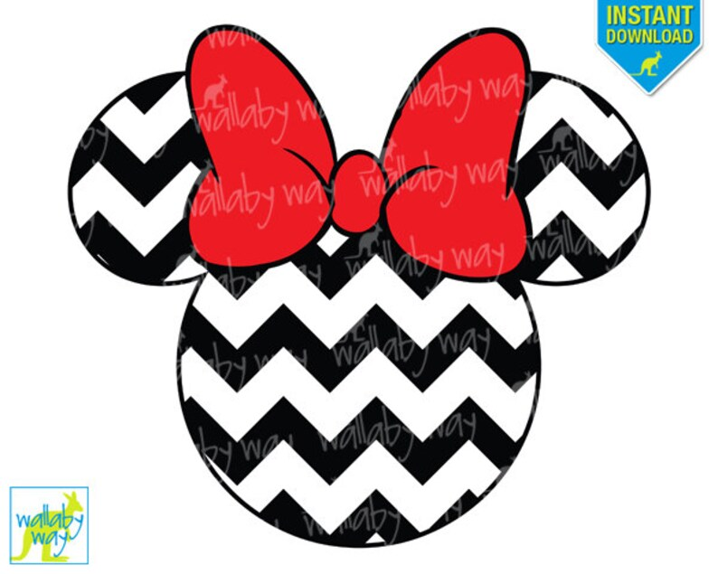 photograph about Printable Minnie Mouse Head named Chevron Minnie Mouse Intellect Printable Iron Upon Shift or Employ the service of as Clip Artwork - Do it yourself Disney Blouse - Fast down load, PNG, Clear Heritage