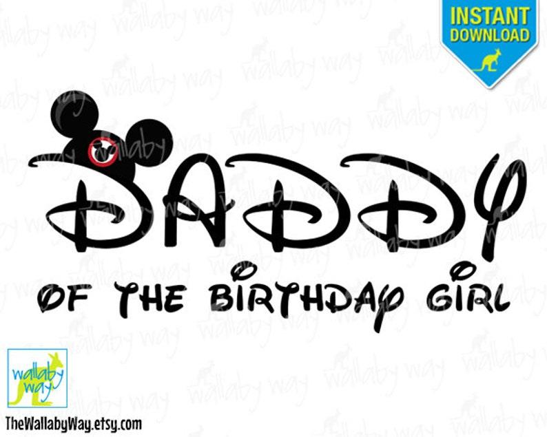 4805f5dd Daddy of the Birthday Girl Minnie Mouse Birthday Printable | Etsy