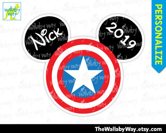 picture relating to Captain America Printable titled Captain The united states Mickey or Minnie Thoughts Printable Disney Iron Upon Go or as Clip Artwork, Do it yourself Disney Blouse, Customize Ponder Comics Avengers