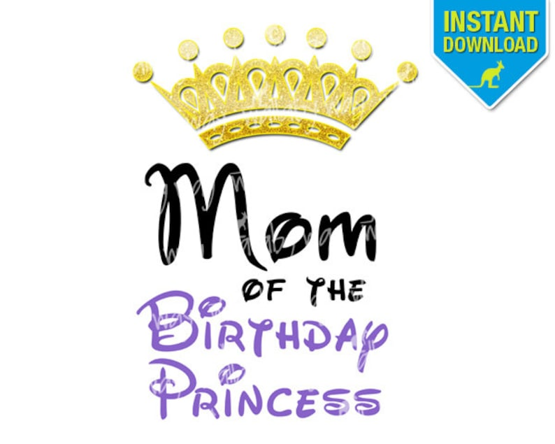 photo relating to Princess Crown Printable identify Mother of the Birthday Princess Crown Printable Iron Upon Go or Hire as Clip Artwork - Do-it-yourself Birthday Matching Shirts Suitable for Sofia the Initially
