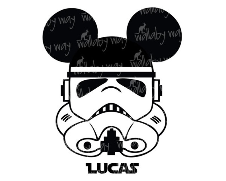 graphic relating to Stormtrooper Printable called Stormtrooper Mickey Star Wars Printable Disney Iron Upon Go or Employ as Clip Artwork - Do it yourself Star Wars Blouse - Ideal for Star Wars Weekend