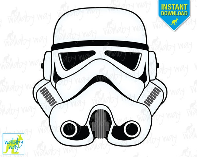 photo regarding Stormtrooper Printable referred to as STORMTROOPER Star Wars Printable Iron Upon Go or Employ as Clip Artwork - Do it yourself Star Wars Blouse - Immediate Down load, Storm Trooper, StarWar