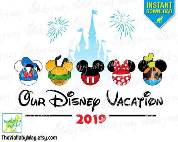 2019 Our Disney Vacation Printable Iron On Transfer or Use ...