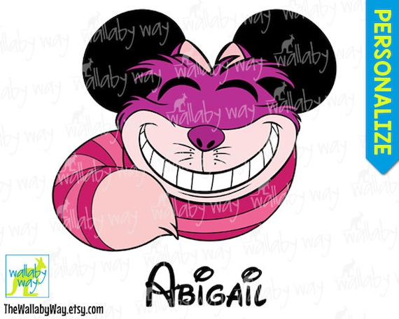 image regarding Cheshire Cat Printable identify Cheshire Cat Mickey Mind Alice inside Wonderland Printable Disney Iron Upon Shift or Employ the service of as Clip Artwork - Do it yourself Disney Blouse Relatives Family vacation Minnie