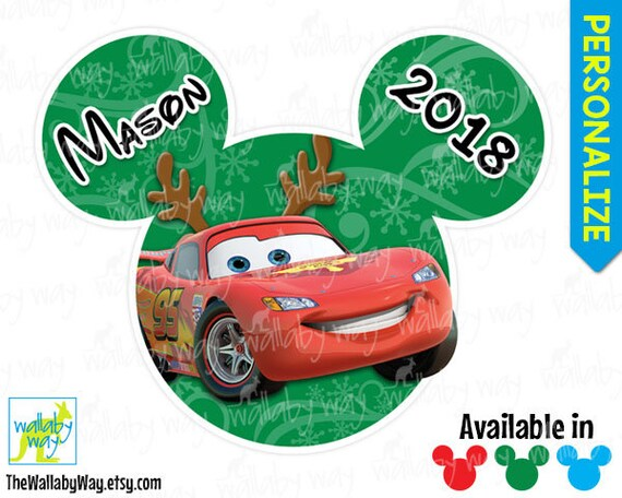 Disney Cars Christmas Clipart.Lightning Mcqueen Cars Christmas Printable Iron On Transfer Or Use As Clip Art Diy Disney Shirt Mickeys Very Merry Christmas Party Mickey