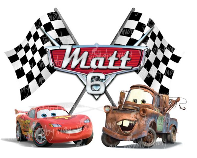 "3/""-10.5/"" Disney cars lightening mcqueen heat transfer iron on character"
