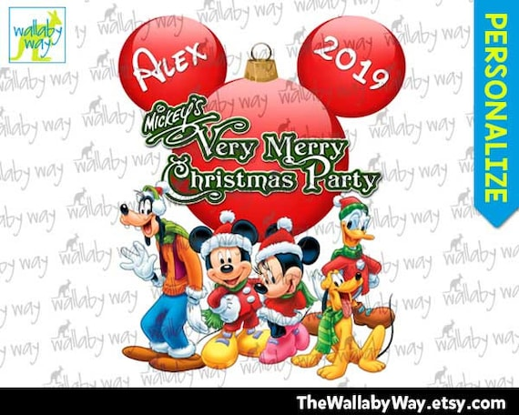 Mickeys Very Merry Christmas Party.Mickey S Very Merry Christmas Party Printable Iron On Transfer Or Clipart Diy Personalized Disney Matching Shirts Fab 5 Digital Download
