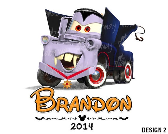 disney halloween cars mater printable iron on transfer or use etsy