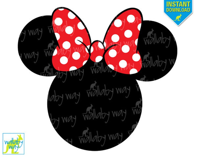 photo regarding Printable Minnie Mouse Head identified as Minnie Mouse Intellect Pink Bow Printable Iron Upon Move or Employ as Clip Artwork - Do-it-yourself Disney Blouse - Fast down load, PNG, Clear History