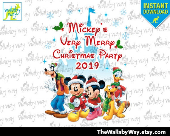 Mickeys Very Merry Christmas Party 2019.Mickey S Very Merry Christmas Party 2019 Printable Iron On Transfer Or Use As Clip Art Diy Disney Matching Shirts Instant Download Family