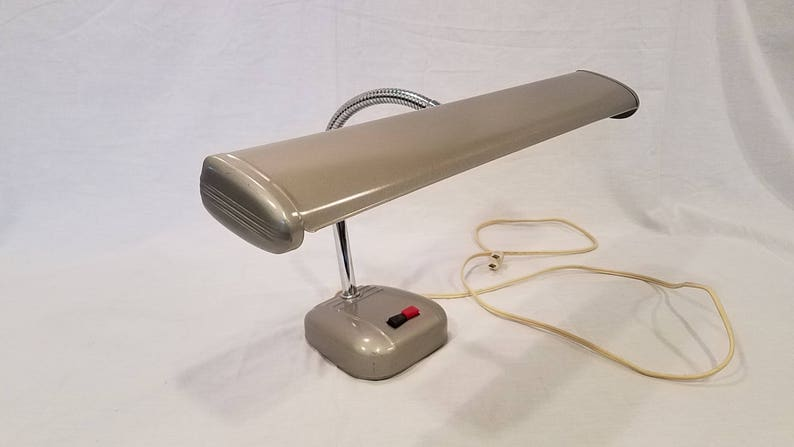 Airplane All Metal Desk Lamp Goose Neck Industrial Fluorescent Table Lamp