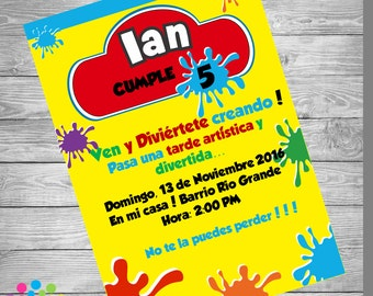 ARTISTIC PARTY!!! Party Invitation!!!Perfect for your Birthday !!! New!