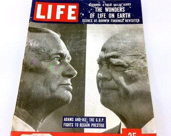 Vintage Life Magazine June 30 1958 Adams & Eisenhower Wonders Of Life On Earth