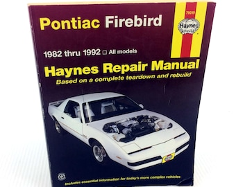 the firebird etsy rh etsy com Online Repair Manuals Haynes Repair Manual 1991 Honda Civic